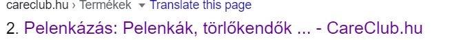 Így néz ki a page title